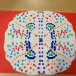 Trabajando la simetría con mandalas de papel de cocina