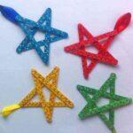Cómo hacer unas bonitas estrellas de colores con palos de polo