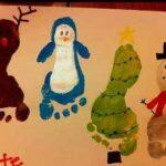Felicitamos la Navidad con unos divertidos personajes hechos con los pies