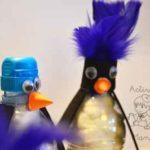 """Unos simpáticos y """"reciclados"""" pingüinos"""