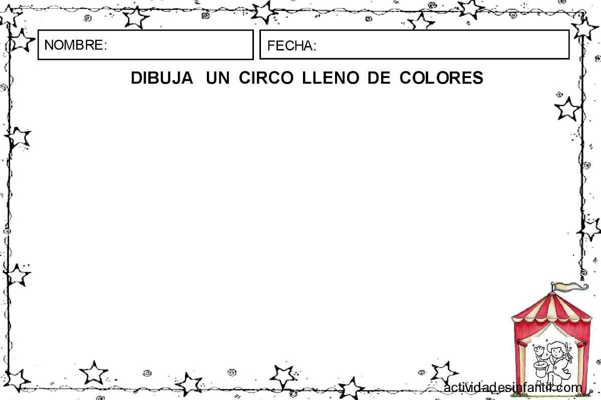 dibuja un circo de colores actividades