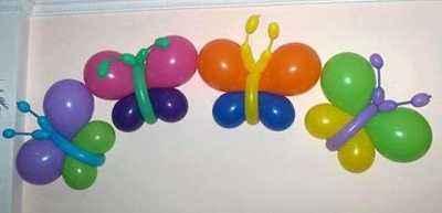 mariposas con globos
