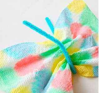 mariposas de servilletas