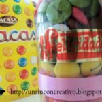 Carta embotellada con caramelos