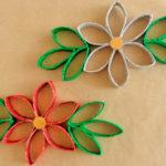 Cómo hacer flores de decoración con rollos de papel higiénico