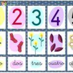 Juego de parejas para aprender los números en pdf