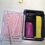 Un sencillo recurso casero con material reciclado para trabajar los conceptos: Largo/corto