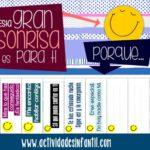 Dibujando sonrisas en los peques con etiquetas para trabajar la autoestima