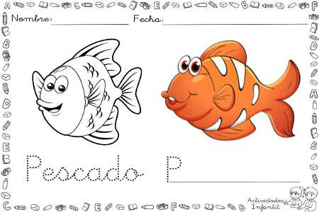 Dibujo De Pescado Para Colorear Actividades Infantil