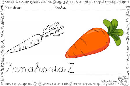Dibujo Divertido De Zanahoria Para Colorear Actividades Infantil