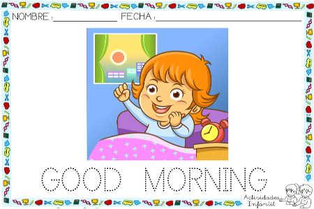Saludos Para Los Momentos Del Dia Good Morning Actividades Infantil