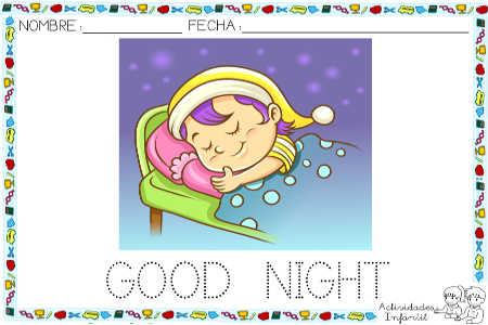 Saludos Para Los Momentos Del Día Good Night Actividades Infantil