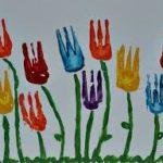 Pintamos tulipanes con tenedores