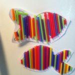 Aprendemos muchas cosas reciclando pajitas de refresco de colores