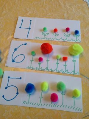 Repasamos la forma de los números y el conteo dibujando flores