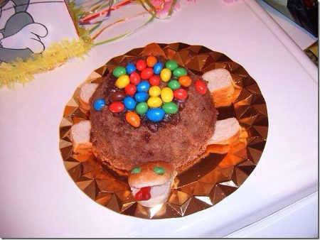 pastel tortuga