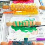 Técnicas plásticas: Estampación con rodillos de madera